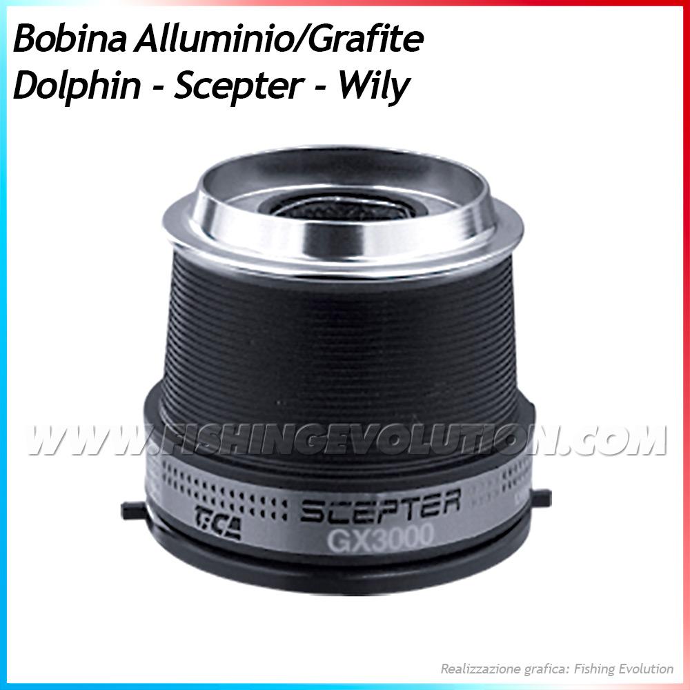 Bobina Ricambio Originale Graphite-Alluminio x Dolphin, Scepter, Wily