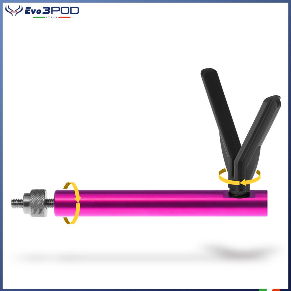 Evo3pod Braccetto appoggia canna basso elite pink y stonfo