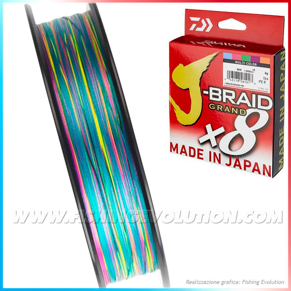 Daiwa - J-Braid Grand 8X Multicolor