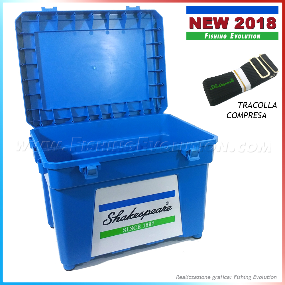 Shakespeare New seat box blue 2018