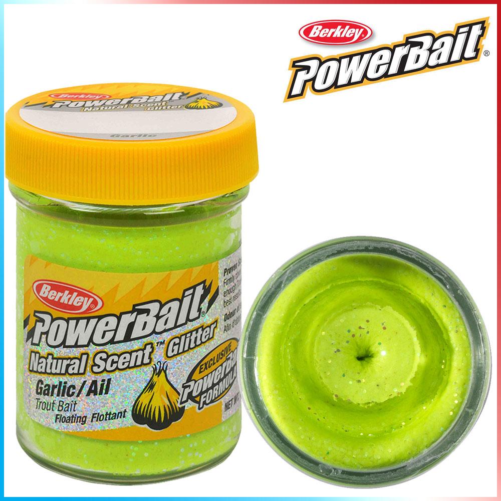 Pasta per Trote PowerBait Col.Chartreuse - Aroma Garlic + Glitter