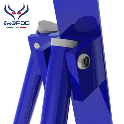 Evo3pod Tripode doppia canna elite 200 cm blue