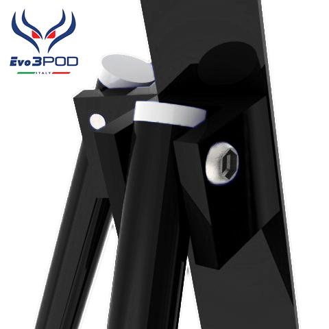 Evo3pod Tripode doppia canna elite 200 cm nero