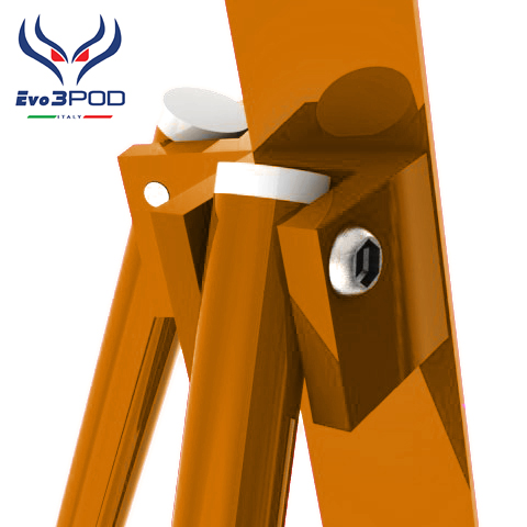 Evo3pod Tripode doppia canna elite 200 cm orange