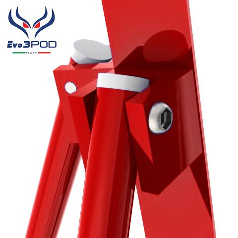 Evo3pod Tripode doppia canna elite 200 cm rosso