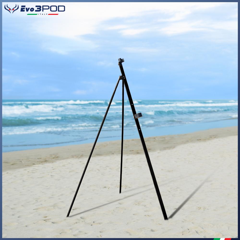 Picchetto con gambe Alluminio Anodizzato Nero 150 cm