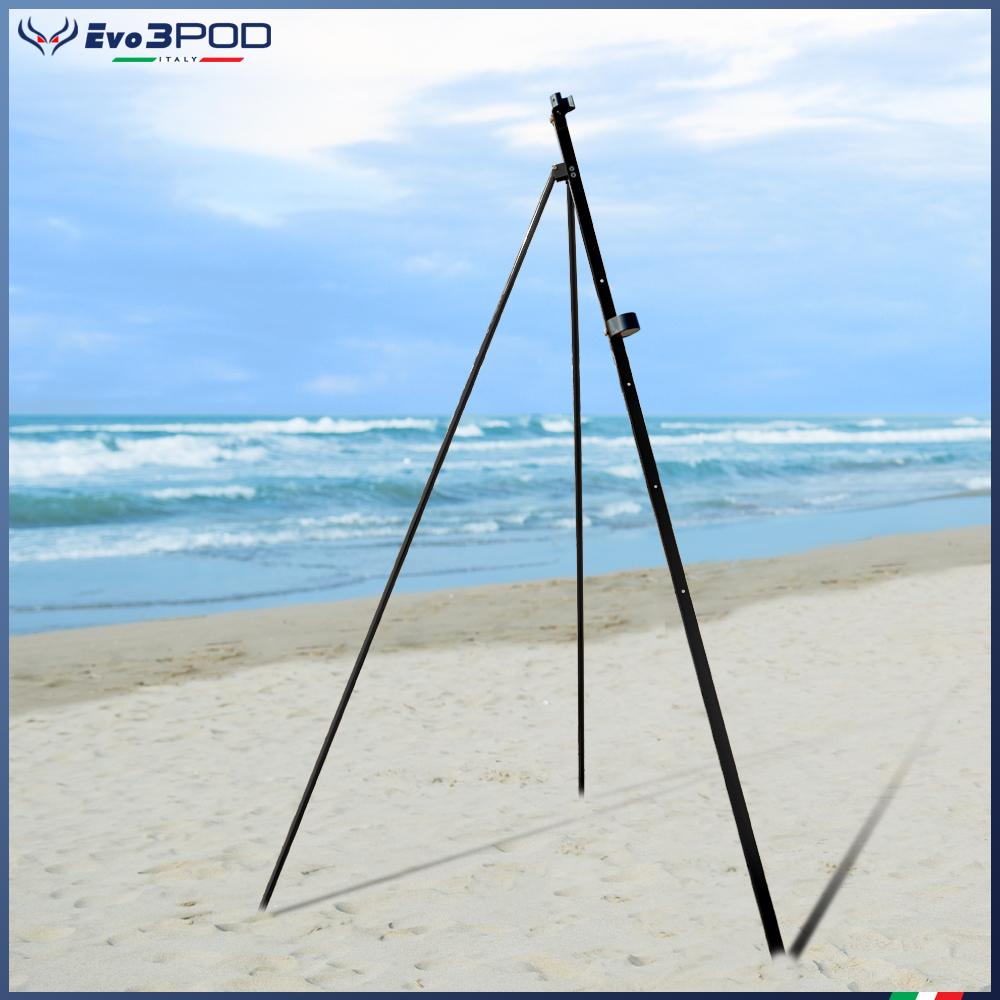 Picchetto con gambe Alluminio Anodizzato Nero 200 cm