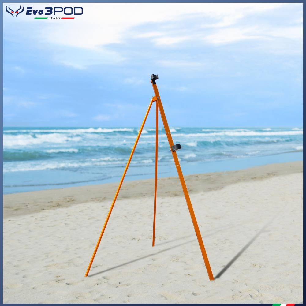 Picchetto con gambe Alluminio Anodizzato Orange 150 cm