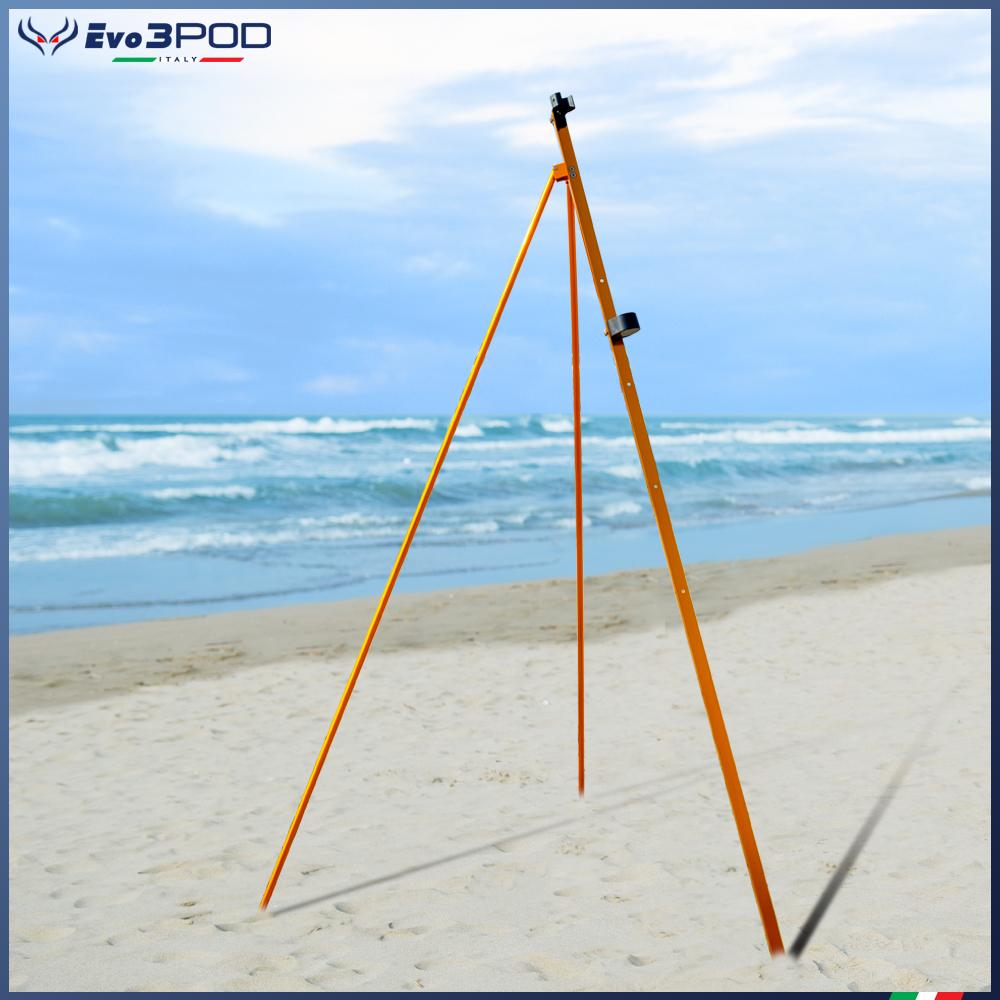 Picchetto con gambe Alluminio Anodizzato Orange 200 cm
