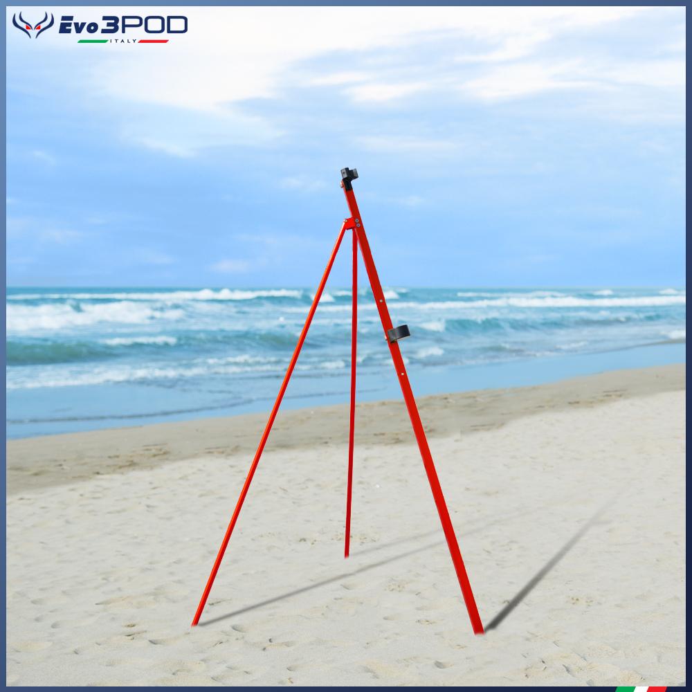 Picchetto con gambe Alluminio Anodizzato Rosso 150 cm