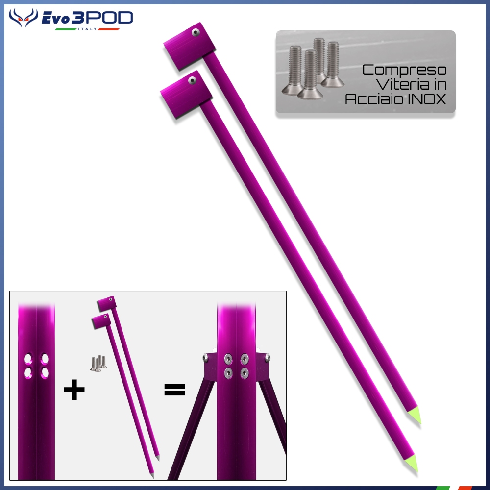 Evo3pod Gambe per picchetto 150 cm elite pink