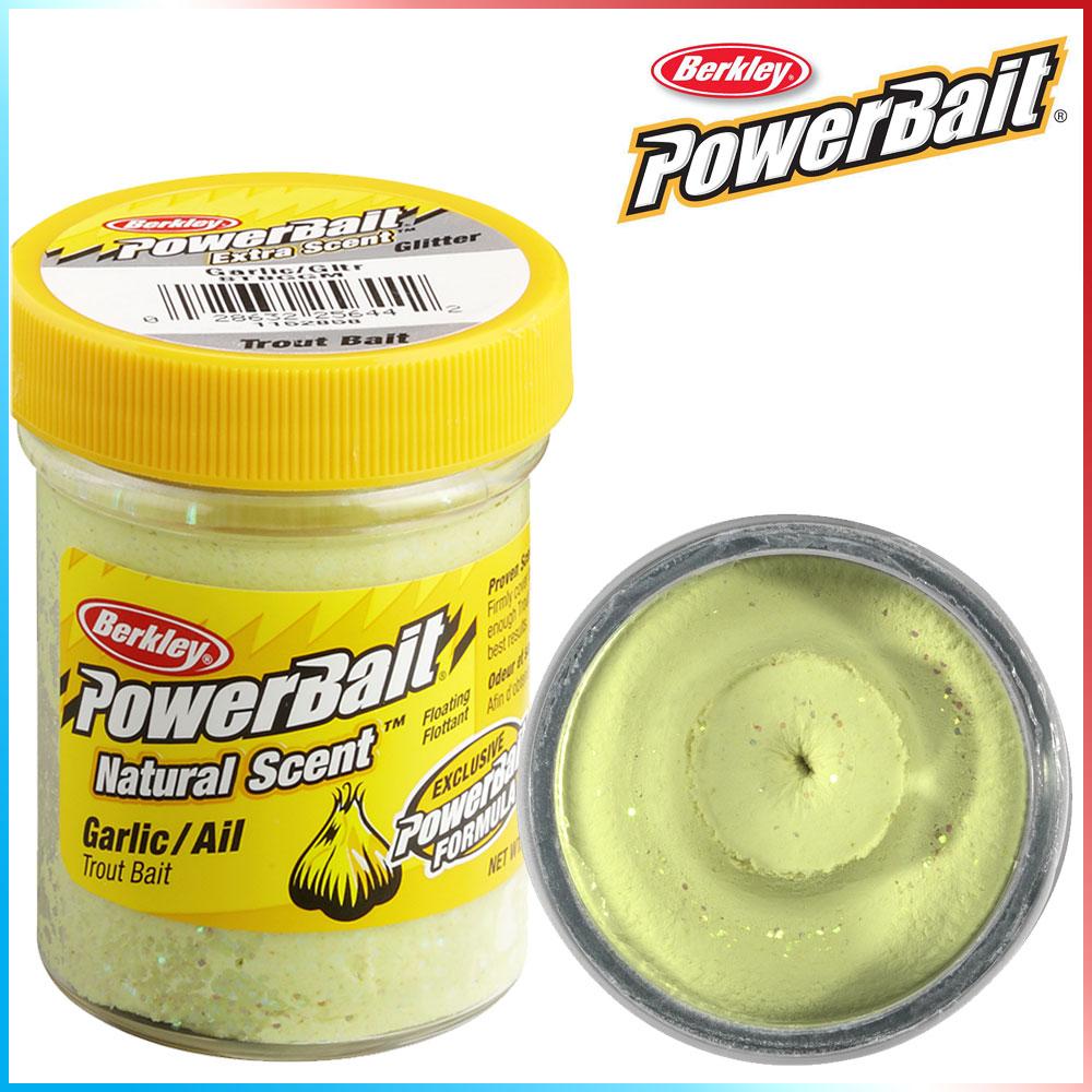 Pasta per Trote PowerBait Col.Garlic - Aroma Garlic + Glitter