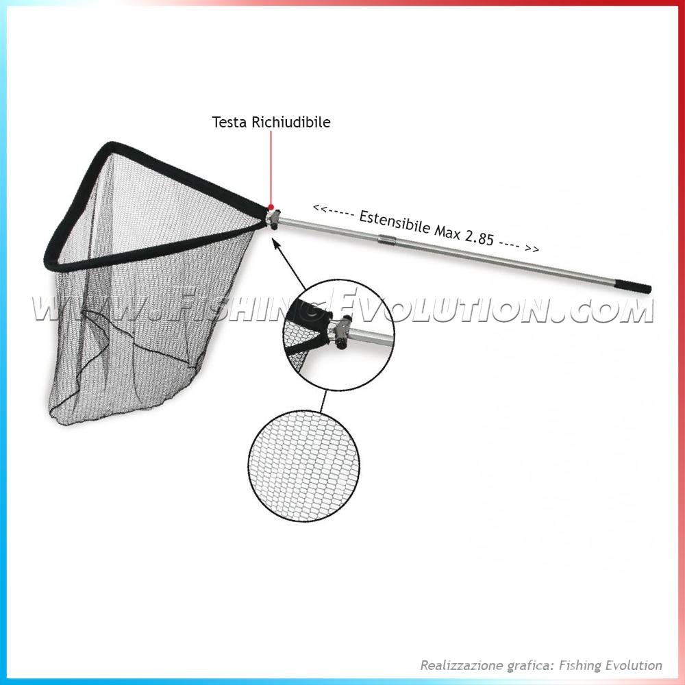 Guadino Alluminio Storione Testa Richiudibile 285