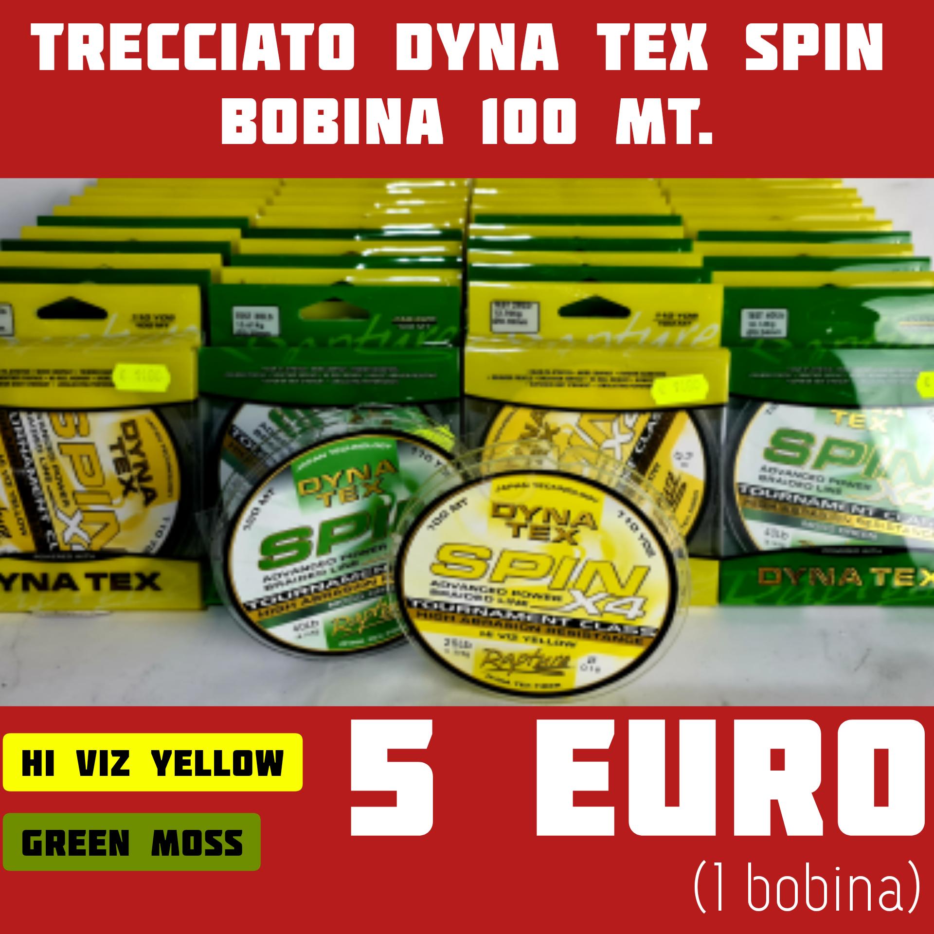 Dyna Tex 4X 100Mt. Hi-Viz Yellow - Green Moss