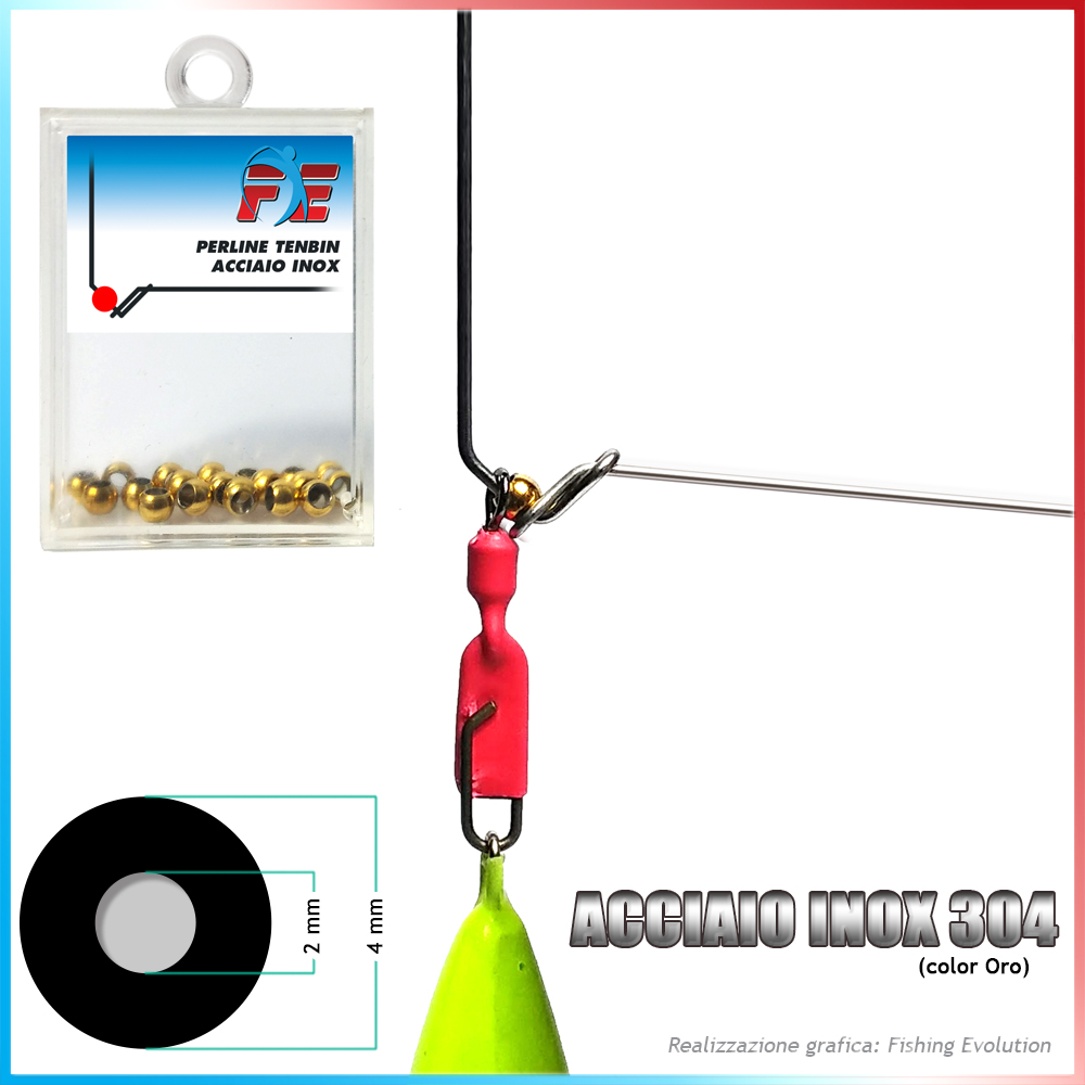 Fishing evolution Perline tenbin inox diam 4 foro 2
