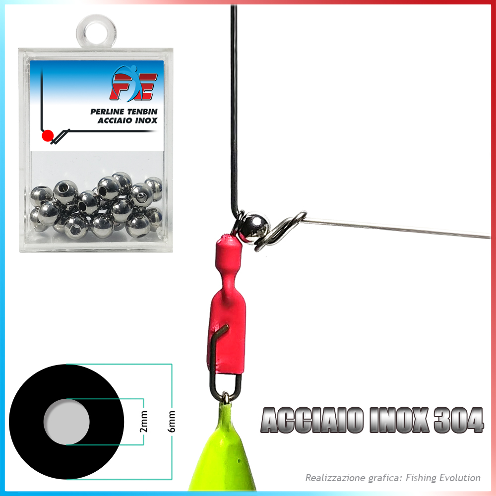 Fishing evolution Perline tenbin inox diam 6 foro 2