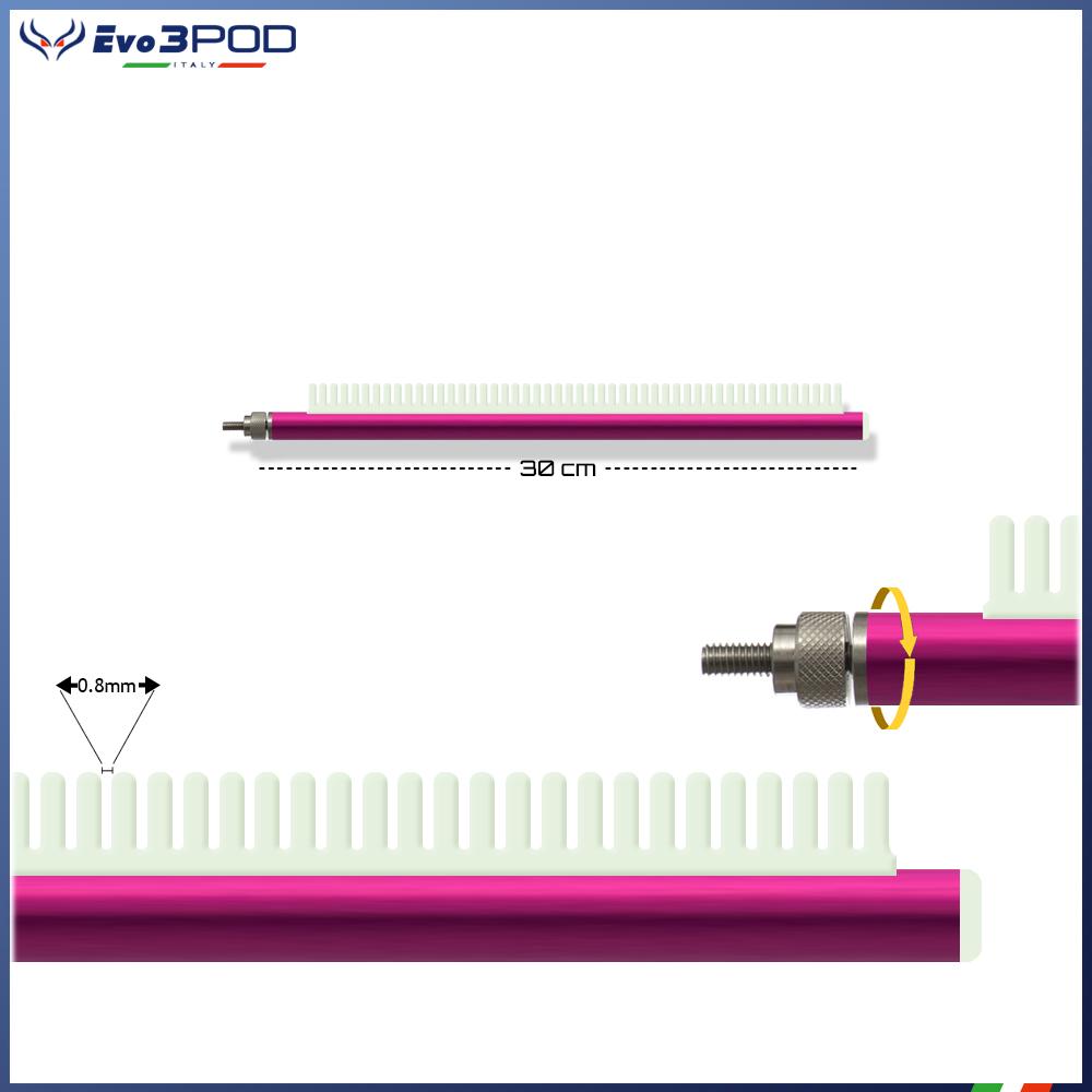 Evo3pod Braccetto stendi travi a pettine elite pink 30cm