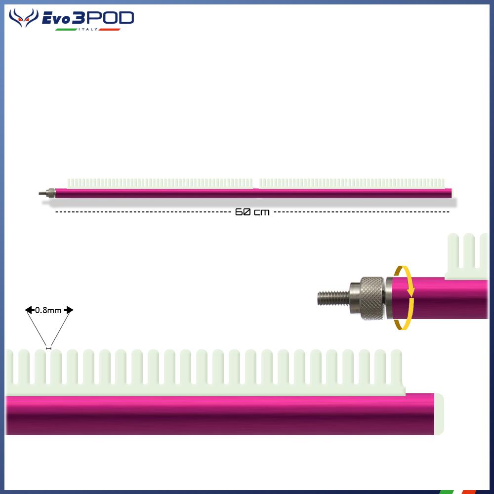 Evo3pod Braccetto stendi travi a pettine 60 cm elite pink