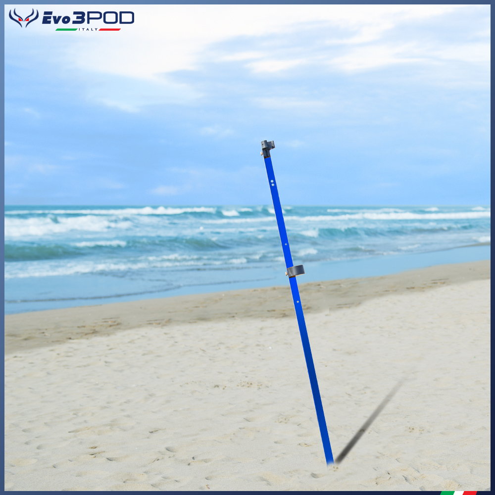 Picchetto Base Alluminio Anodizzato Blu 150 cm