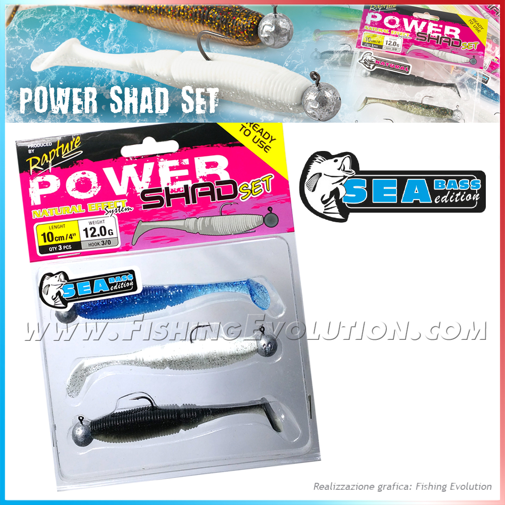 Power Shad Set 10cm Sea Bass