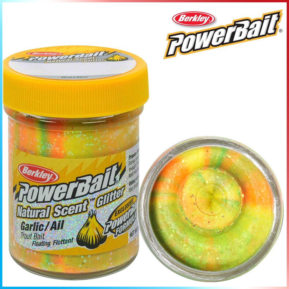 Pasta per Trote PowerBait Col.Rainbow - Aroma Garlic + Glitter