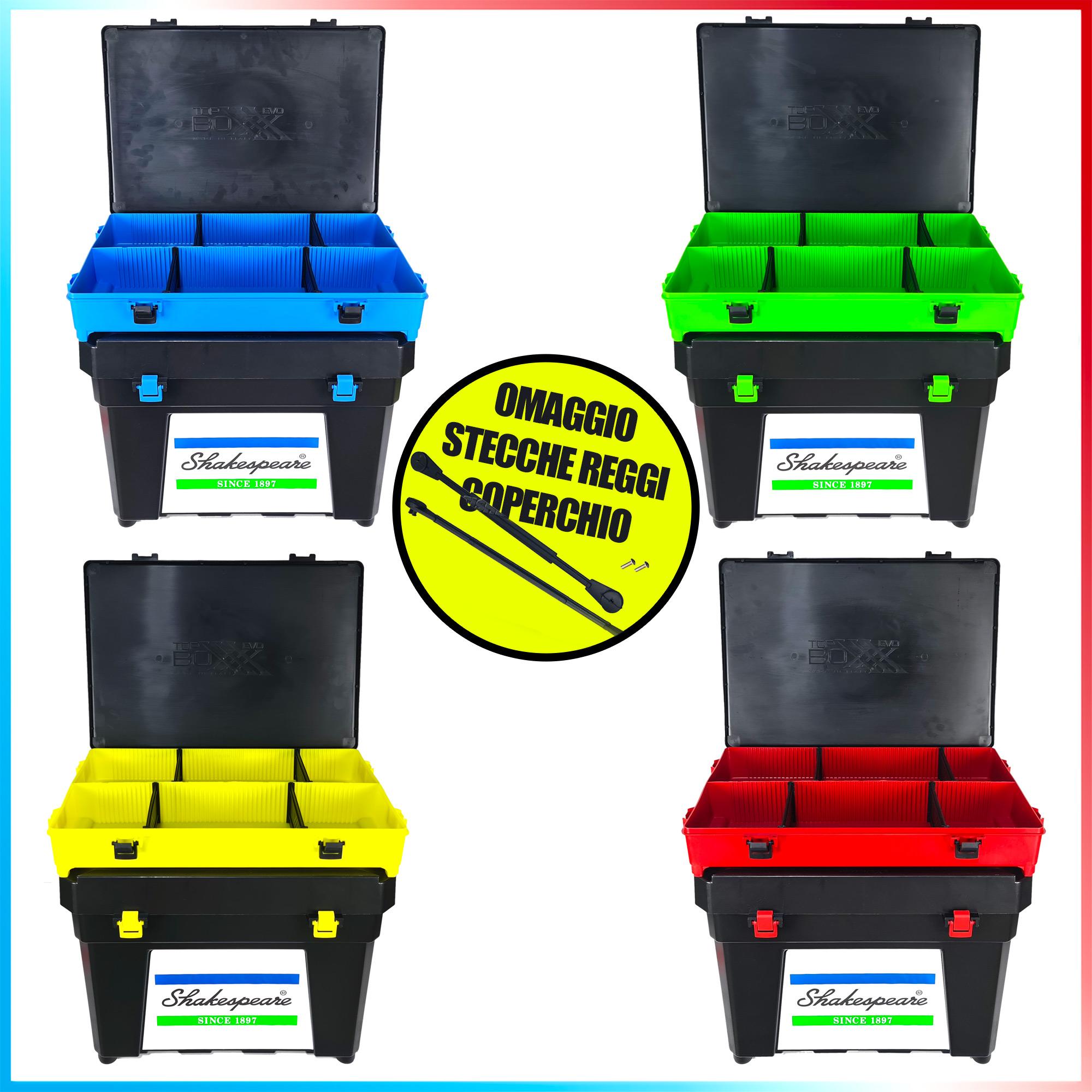 Fishing evolution Combo seat box shakespeare black top boxxx evo stecche