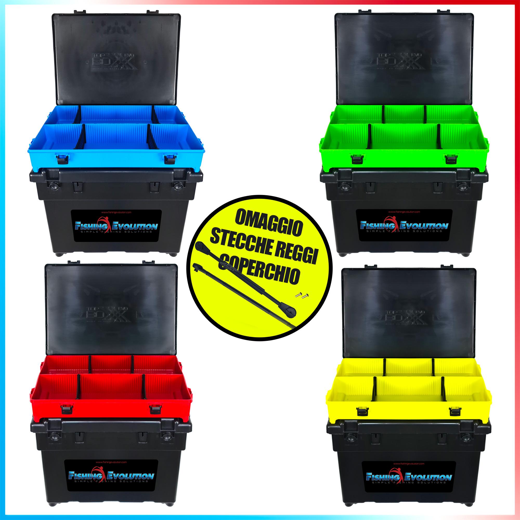 Fishing evolution Combo seat box black top boxxx evo stecche