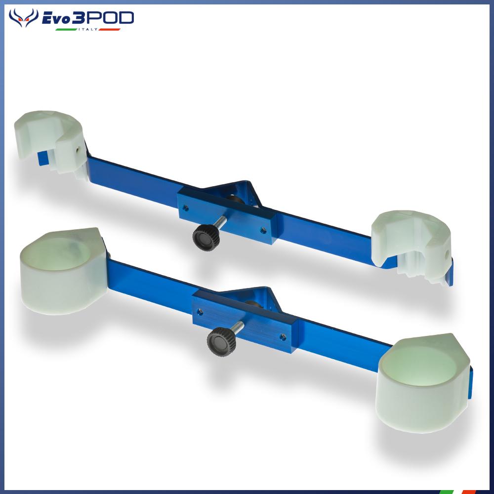 Evo3pod Coppia staffe per doppia canna elite blue