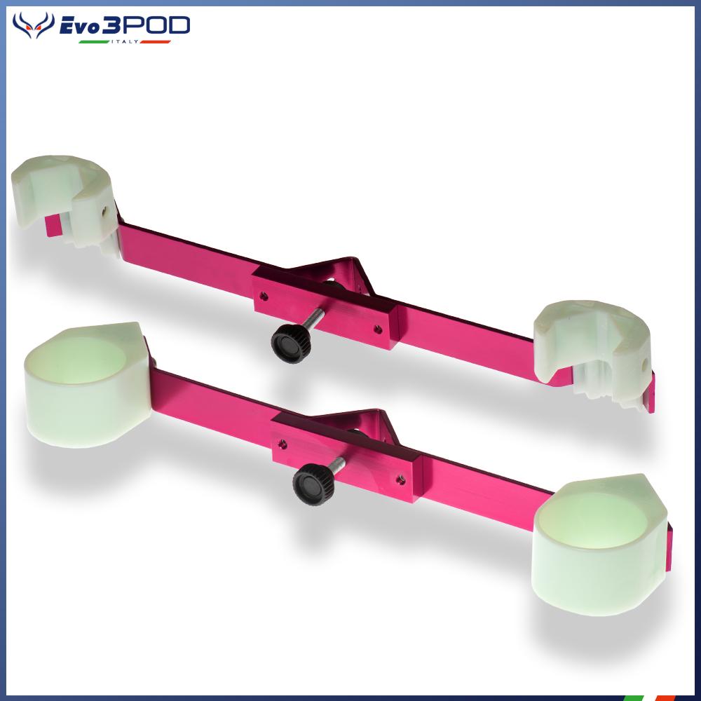 Evo3pod Coppia staffe per doppia canna elite pink
