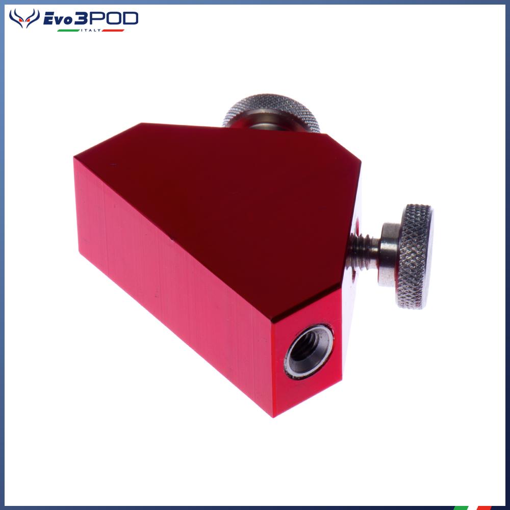 Triangolo porta accessori Alluminio Anodizzato Rosso