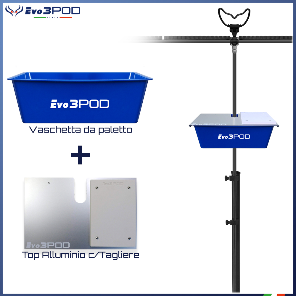 Evo3pod Big basket da paletto con foro 16mm blue