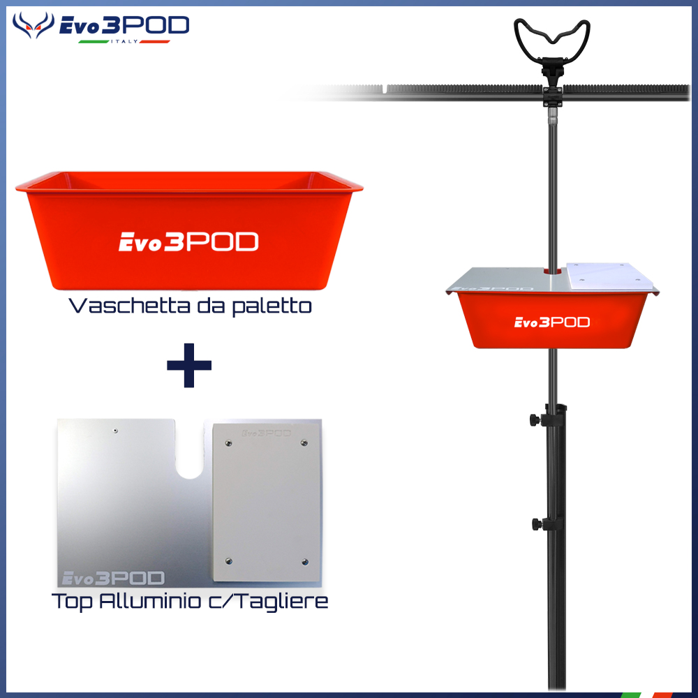 Evo3pod Big basket da paletto con foro 16mm red