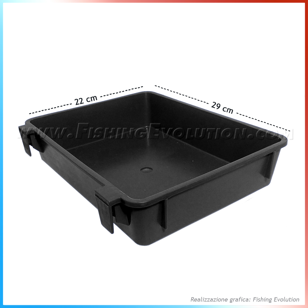 Import Vassoio seat box 29x22 black