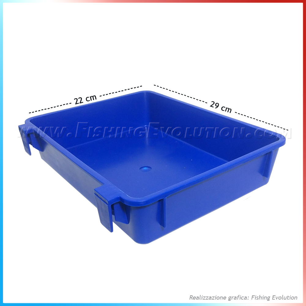 Import Vassoio seat box 29x22 blue