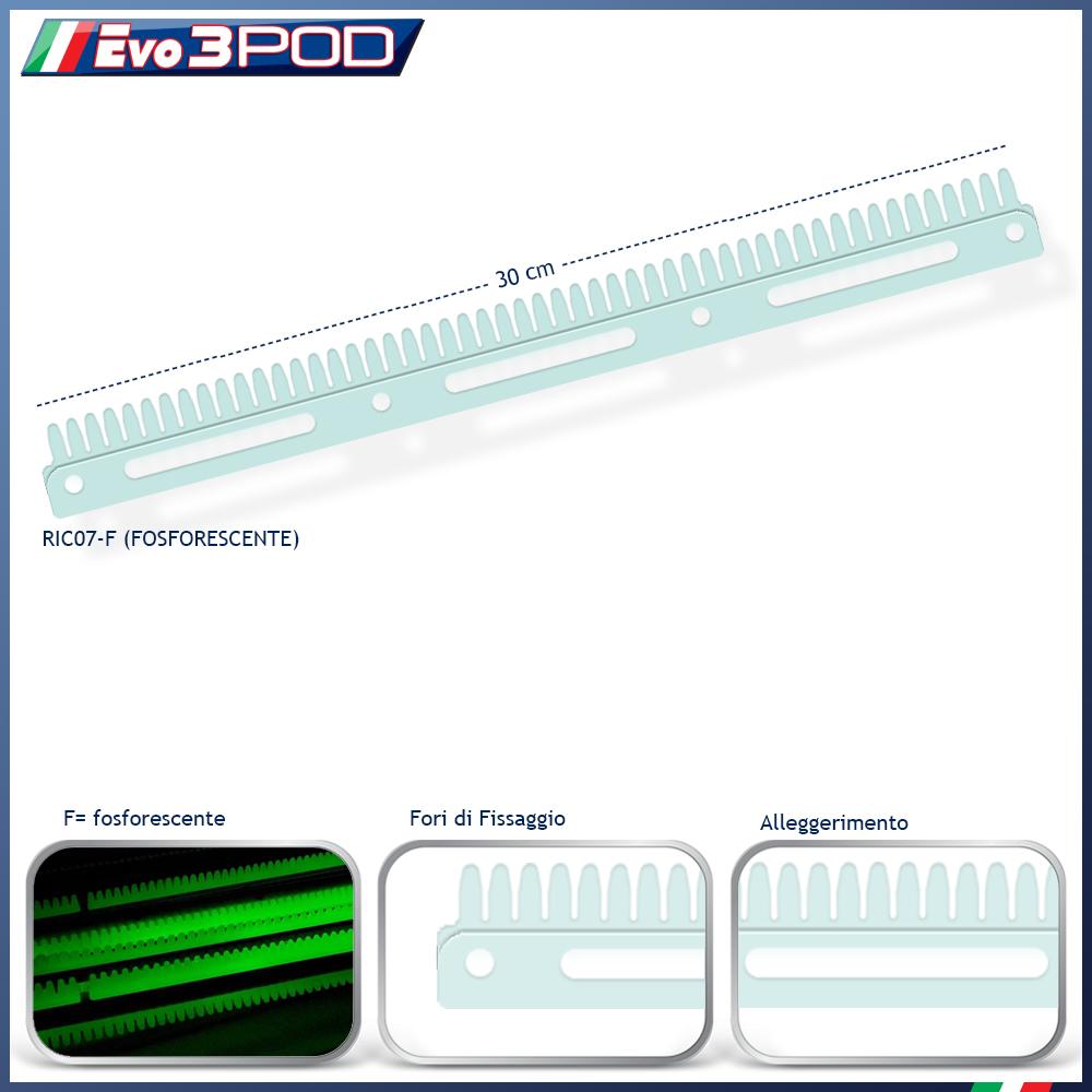Pettine Ricambio Evo3POD Fosforescente