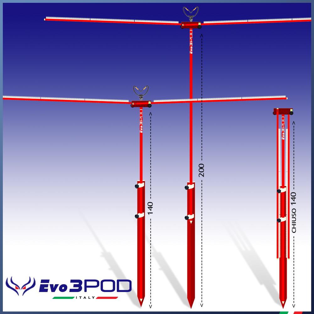 Evo3pod Stendi travi str02-200 rosso