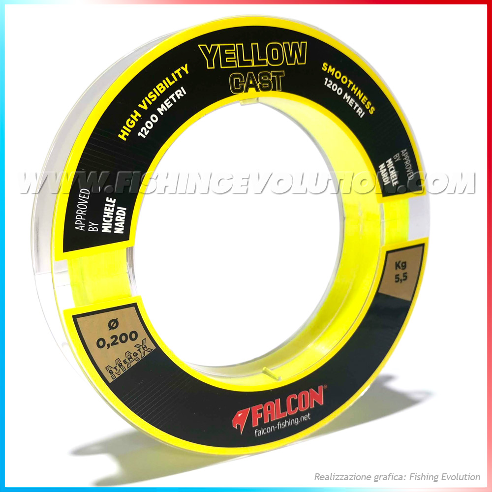 Nylon Falcon Yellow Cast 1200 mt