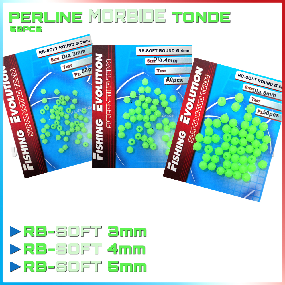 Fishing evolution Perline fluo tonde morbide rb-soft