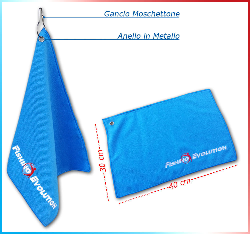 Fishing evolution Towel microfibra 40x30