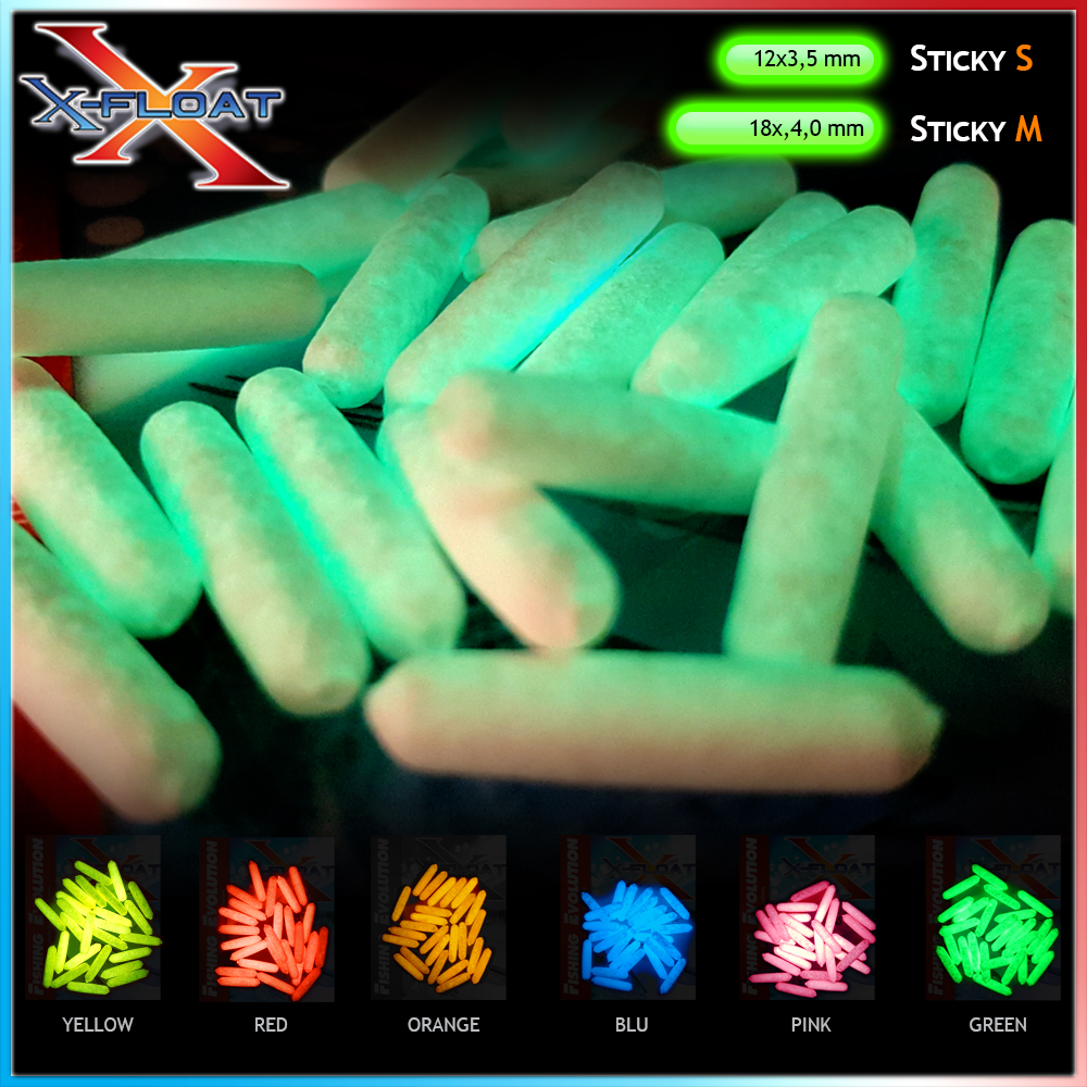 X-Float Sticky Glow Mis.M (4.0x18 mm)