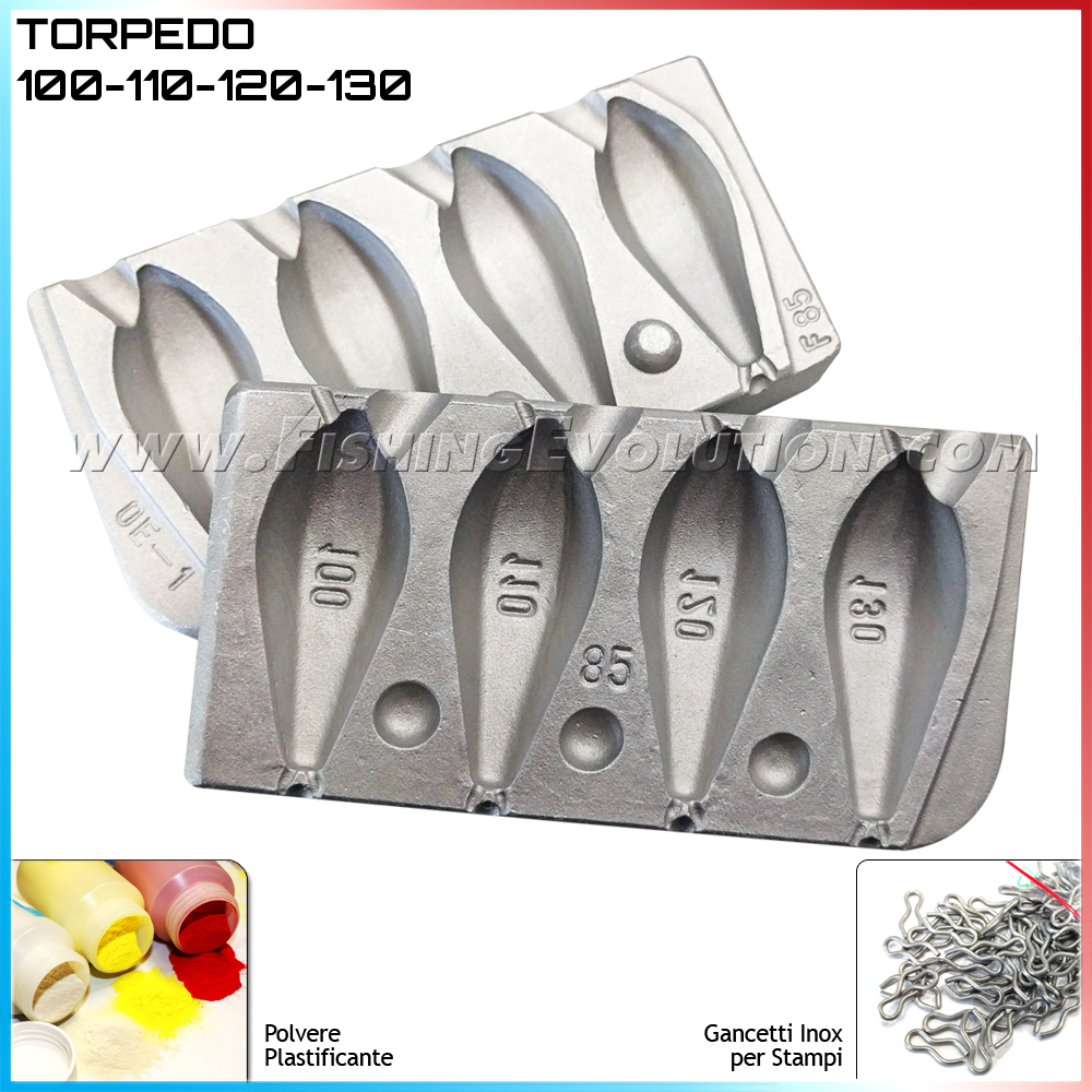 Stampo Piombo Torpedo 4 Grammature