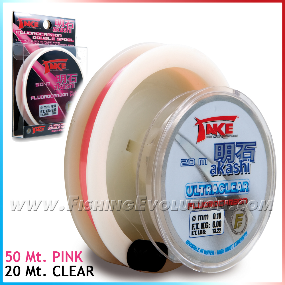 Fluorocarbon Pink + Clear