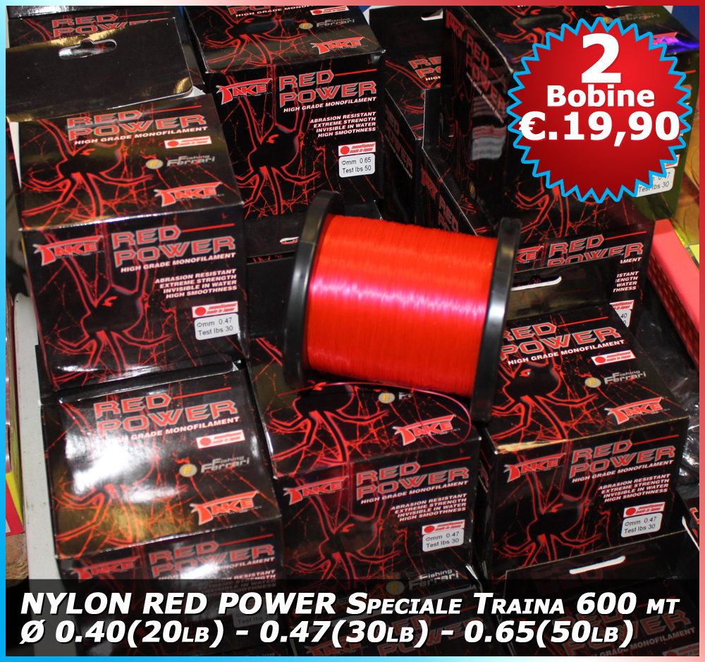 Nylon Red Power 600 mt