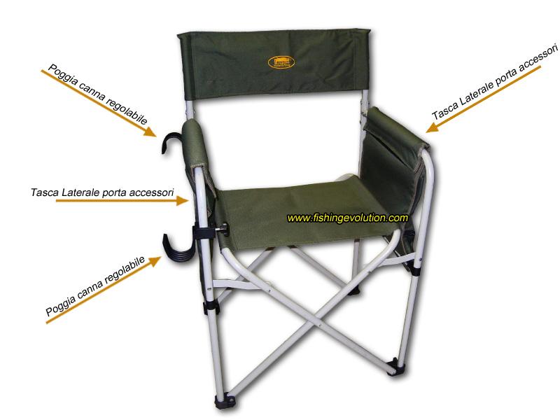 Vendo sedia da regista colore verde restaurata csigwssolution store