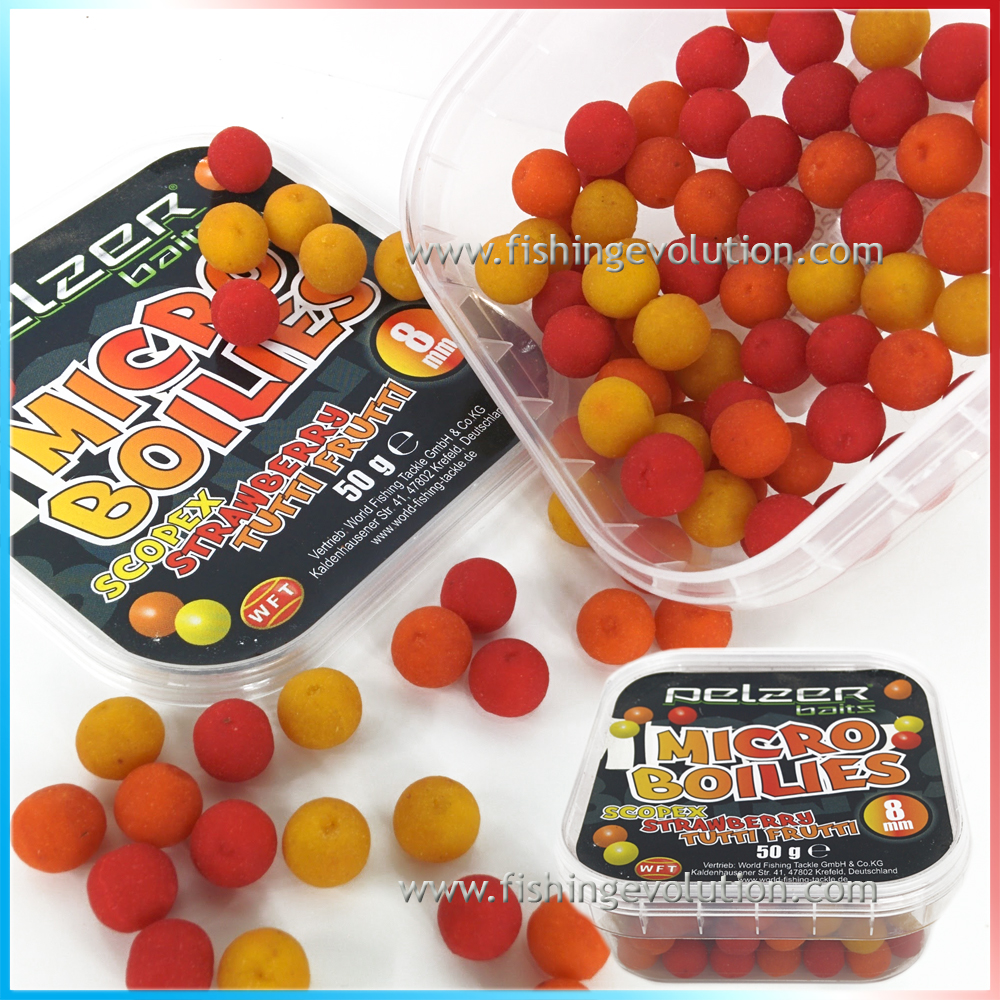 Micro Boilies 8 mm. Gusti assortiti