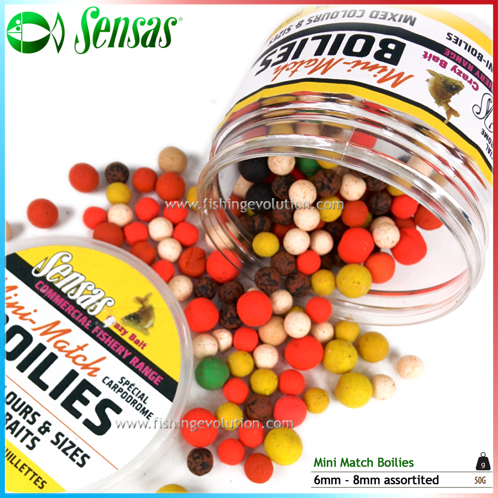 Mini Match Boilies 6-8 mm