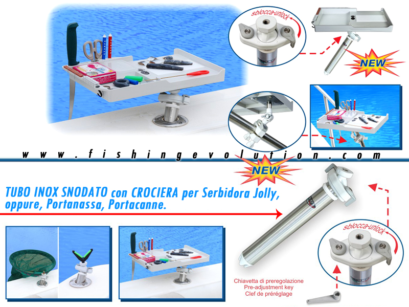 Tubo Inox adattatore per barca Art. 570