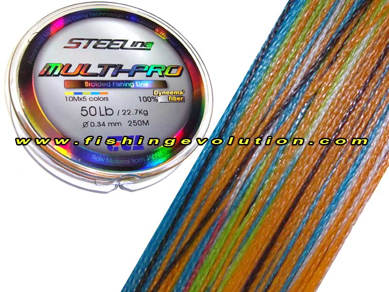Braid Dyneema multicolor 250