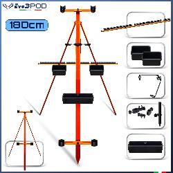 Combo Postazione Doppia Canna SurfCasting Mod.3004 - 180cm