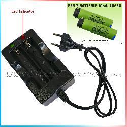 Carica Batterie Doppio 18650